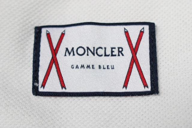 モンクレール ガムブルー [MONCLER] カットソー ポロシャツ ホワイト 白 長袖 SIZE[L] メンズ トップス