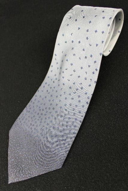 シャネル [ CHANEL ] グラデーション ロゴ ネクタイ ブルー系 メンズ 紳士用