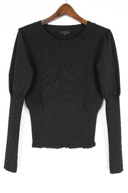 トゥービーシック [ TOBECHIC ] フリル ニット セーター ブラック 黒 長袖 SIZE[40] レディース トップス