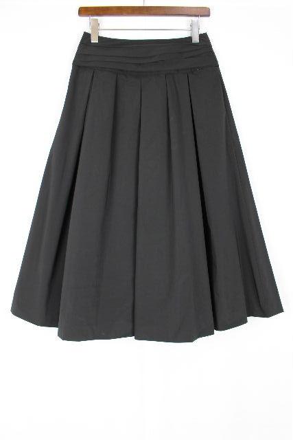 トゥービーシック [ TOBECHIC ] ミモレ丈 フレアースカート ブラック 黒 SIZE[40] レディース ボトムス ミモレ プリーツスカート スカート