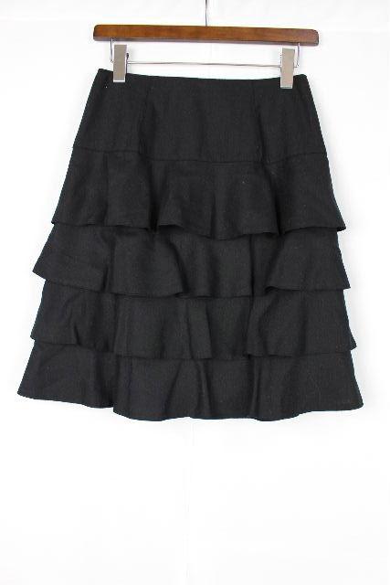 エムズグレイシー [ MS GRACY ] ティアードフリル スカート ブラック 黒 SIZE[38] レディース ボトムス フリル