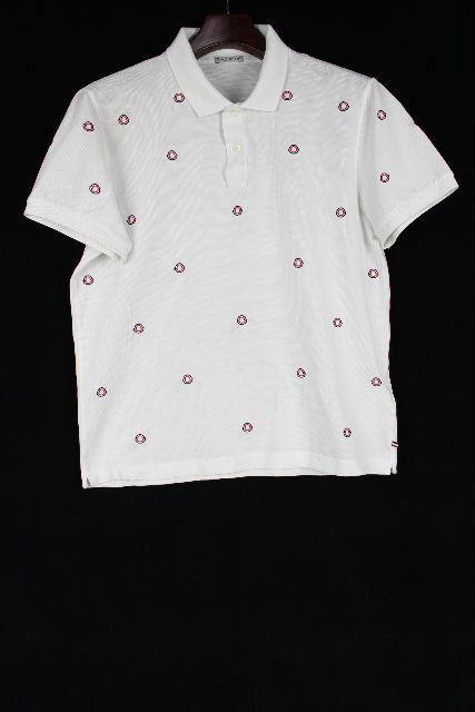 モンクレール [ MONCLER ] モノグラム ポロシャツ ホワイト 白 半袖 SIZE[M] メンズ トップス カットソー