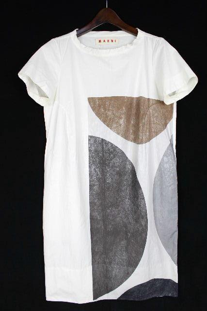 マルニ [ MARNI ] シャツ ワンピース ホワイト 白 SIZE[36] レディース ワンピ