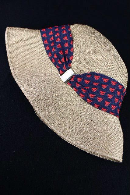 アシーナニューヨーク [ ATHENA New York ] ヨット柄 スカーフ リボン 帽子 レディース ストローハット 麦わら帽子