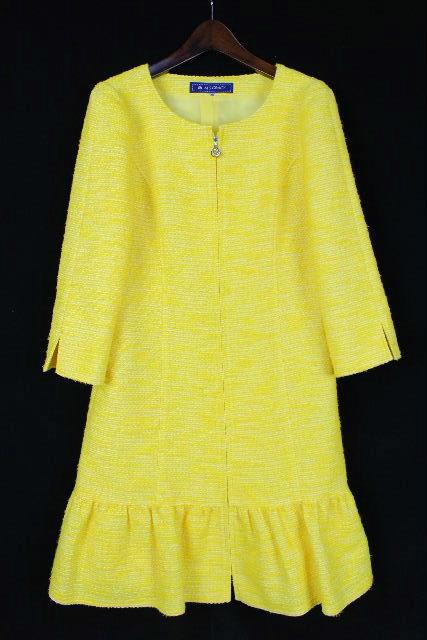 エムズグレイシー [ MS GRACY ] カメリア ツイード ファスナー ワンピース 黄色 SIZE[38] レディース ワンピ