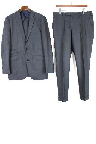 バーバリーブラックレーベル [ BURBERRY ] 2つボタン シングル スーツ ネイビー紺色 SIZE[42L] メンズ ジャケット スラックスパンツ