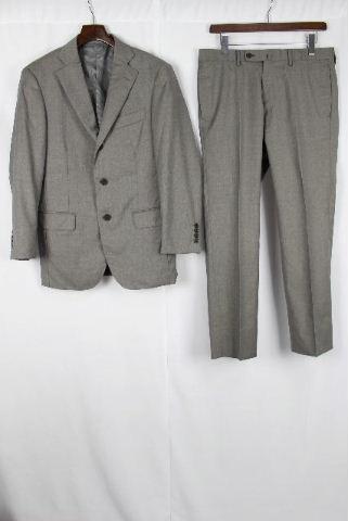 ロロピアーナ [ Loro Piana TETSU ] 3つボタン シングル セットアップスーツ グレー SIZE[46] メンズ 紳士用 ジャケット スラックスパンツ