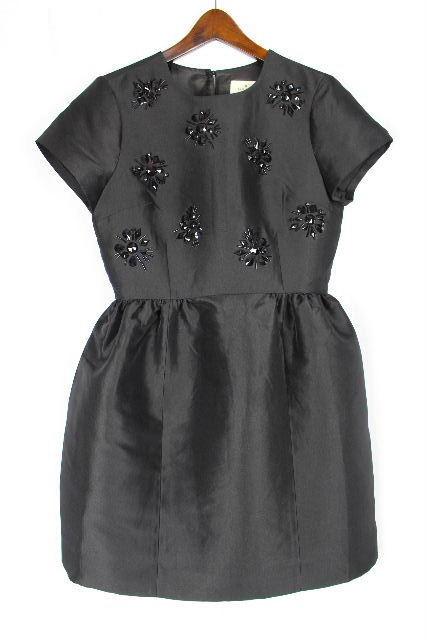 ケイトスペード [ katespade ] フラワー ビジュー ドレス ワンピース 黒 SIZE[4] レディース フレアーワンピース ワンピ