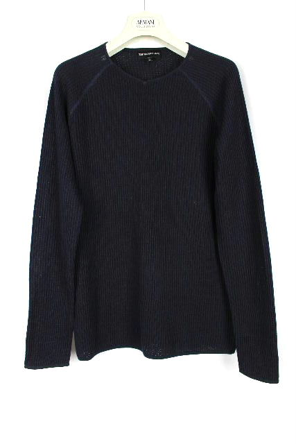 エンポリオアルマーニ [ EMPORIO ARMANI ] ニット セーター ネイビー 紺色 長袖 SIZE[44] メンズ トップス カットソー