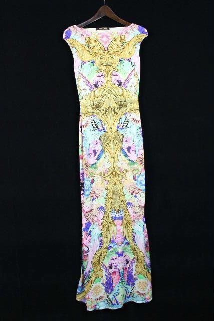 クラスロベルトカヴァリ [ roberto cavalli ] フラワー ロングドレス SIZE[38 165/88A] レディース マキシ ワンピース 花柄 ジャストカヴァリ