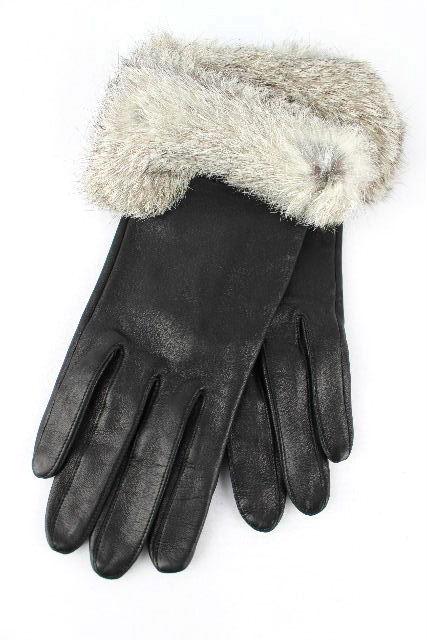 バレンシアガ [ BALENCIAGA ] ラムレザー ファー グローブ ブラック 黒 レディース 手袋