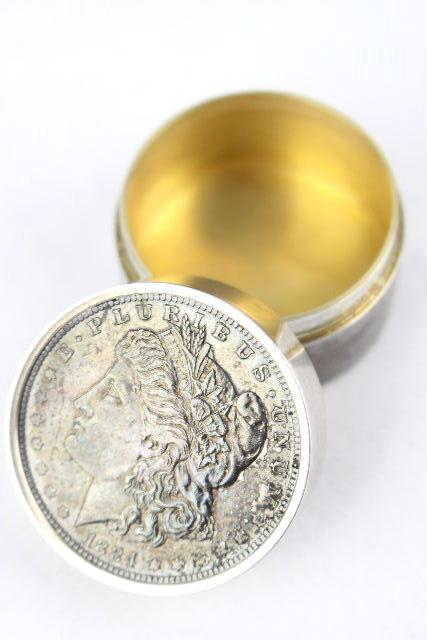 ティファニー [ TIFFANY ] コイン型 シルバー ピルケース 小物入れ ボックス ドラッグ 薬箱