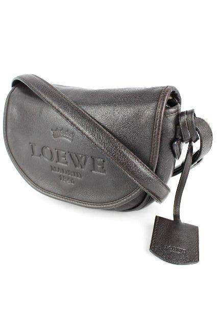ロエベ [ LOEWE ] ヘリテージ レザー 斜め掛け ショルダーバッグ ブラウン レディース アクセサリーポーチ