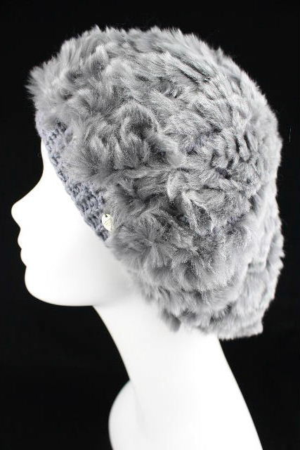 ヘレンカミンスキー [ HELEN KAMINSKI ] ラビットファー帽子 グレー レディース 女性用 ファー ハット ベレー帽子 ニット帽子