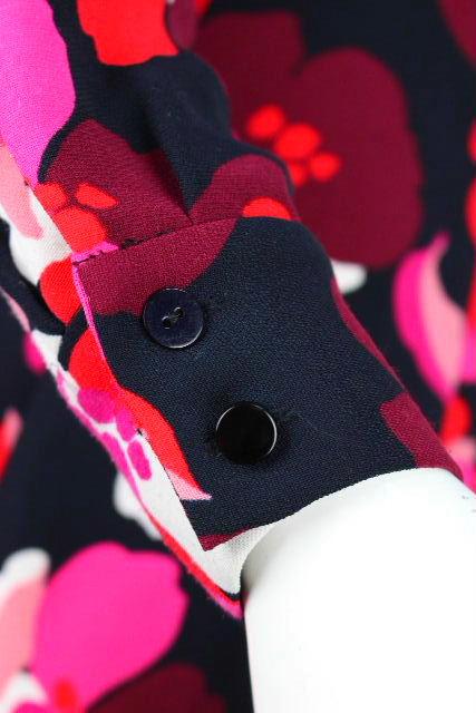 ケイトスペード [ katespade ] 襟 フラワー フレアーワンピース ブラック 黒 SIZE[0] レディース ワンピース ワンピ 花柄