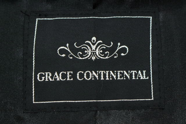 グレースコンチネンタル [ GRACE CONTINENTAL ] フォックスファー ケープ ポンチョ ブラック 黒 SIZE[36] レディース ラビットファー コート