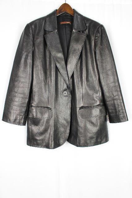 バリー [ BALLY ] レザー テーラードジャケット ブラック 黒 レディース 女性用 婦人用 トップス アウター