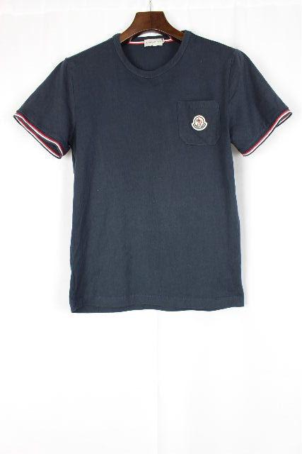 モンクレール [ MONCLER ] ワッペン トリコロール Tシャツ ネイビー 紺色 半袖 SIZE[S] メンズ トップス カットソー