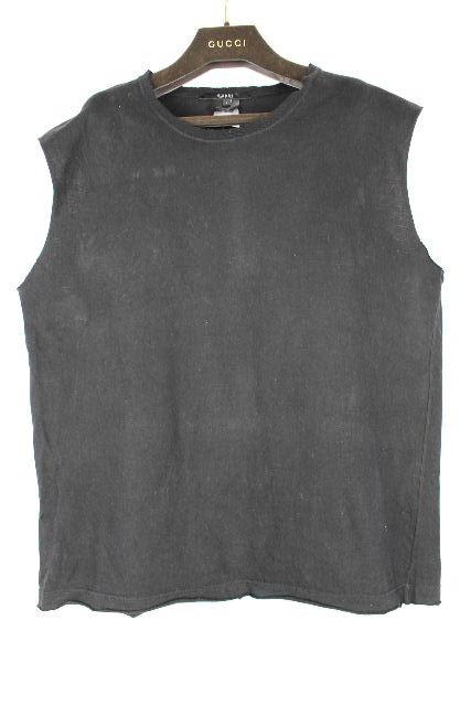 グッチ [ GUCCI ] ロゴ ノースリーブ Tシャツ ブラック 黒 SIZE[L] メンズ トップス カットソー ティーシャツ