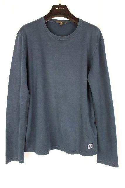 ルイヴィトン [ LOUISVUITTON ] LVワッペン Tシャツ ネイビー 紺色 長袖 SIZE[M] メンズ トップス ロンT ロングTシャツ カットソー
