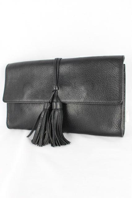 ラルフローレン [ Ralph Lauren ] タッセル フリンジ レザー クラッチバッグ ブラック 黒 レディース ハンドバッグ セカンドバッグ バッグ