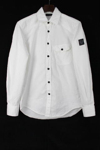 ベルスタッフ [ BELSTAFF ] カジュアル コットン シャツ ホワイト 白 長袖 SIZE[S] メンズ トップス