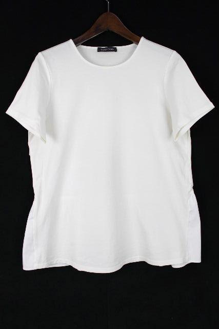 ヨーコチャン [ YOKOCHAN ] フリル プルオーバー カットソー ホワイト 白 半袖 SIZE[38] レディース トップス