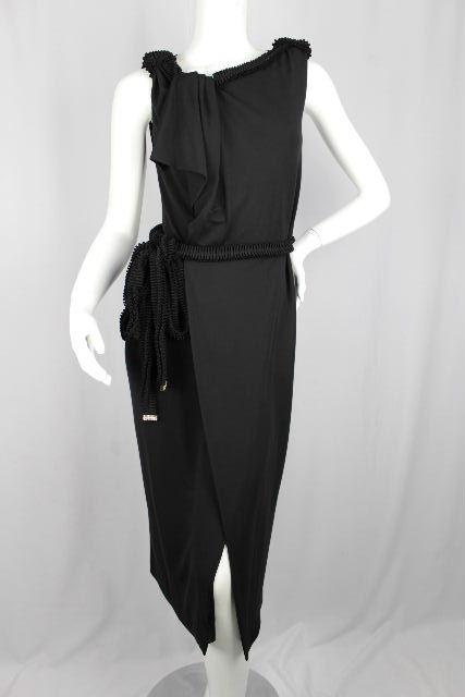 ディースクエアード [ DSQUARED2 ] ビジュー リボン ストレッチ ワンピース ブラック 黒 SIZE[S] レディース ワンピ ディースク ドレス