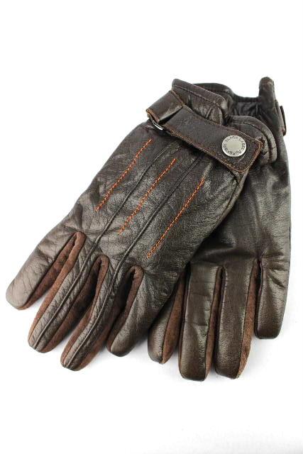 バーバリーブラックレーベル [ BURBERRY ] レザー グローブ ブラウン 茶色 メンズ 男性用 手袋 バーバリー