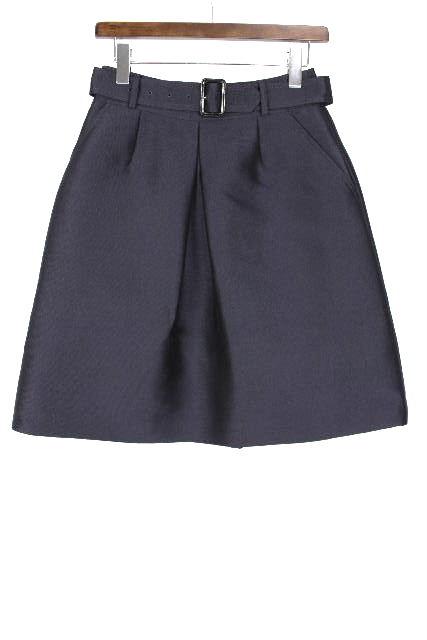 バーバリーロンドン [ BURBERRY ] ベルト フレアースカート ネイビー 紺色 SIZE[36] レディース バーバリー スカート