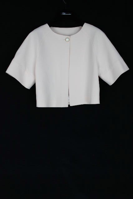 ブルマリン / ブルーガール [ Blumarine ] パール ノーカラー ジャケット ピンク 半袖 SIZE[I40 D34] レディース トップス アウター