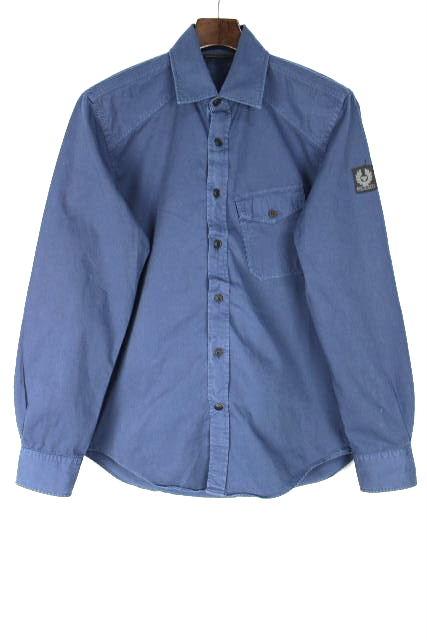 ベルスタッフ [ BELSTAFF ] カジュアル コットン シャツ ネイビー 紺色 長袖 SIZE[S] メンズ トップス