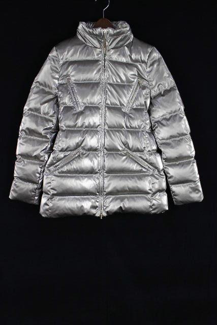 ブルマリン / ブルーガール [ Blumarine ] ベルト 中綿ダウンジャケット シルバー系 SIZE[I40 D34] レディース アウター コート