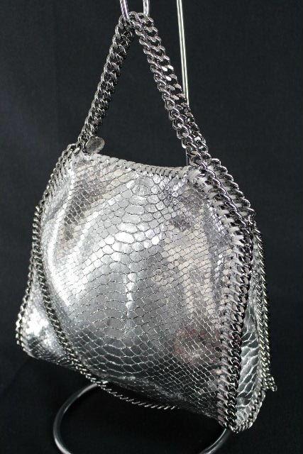 ステラマッカートニー [ Stella McCartney ] パイソン ファラベラミニ シルバー レディース チェーン 2WAY バッグ ショルダーバッグ