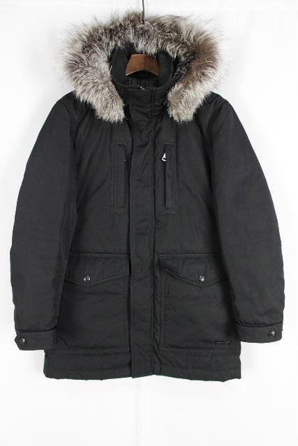 バーバリーブラックレーベル [ BURBERRY ] フォックスファー ダウンジャケット 黒 SIZE[M] メンズ アウター コート
