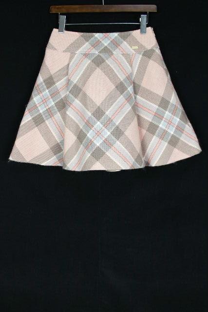 ブルーレーベルクレストブリッジ [ BLUE LABEL ] チェック柄 フレアースカート ピンク SIZE[38] レディース ボトムス スカート