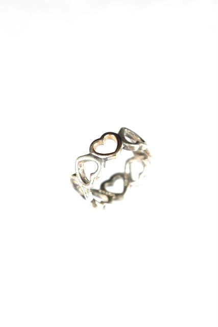 ティファニー [ TIFFANY&Co ] 連結 ハートリング コンビ K18×シルバー SIZE[8号] レディース アクセサリー 指輪