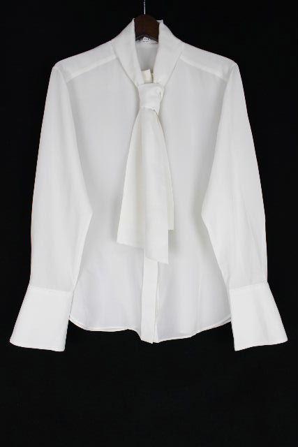 アドーア [ ADORE ] シルク リボン シャツ ブラウス ホワイト 白 長袖 SIZE[38] レディース トップス