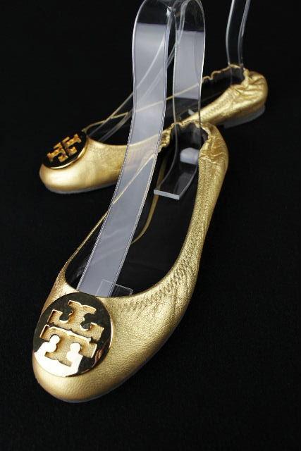 トリーバーチ [ TORY BURCH ] バレエシューズ ゴールド SIZE[8M 24.5cm相当(目安)] レディース バレーシューズ フラットシューズ
