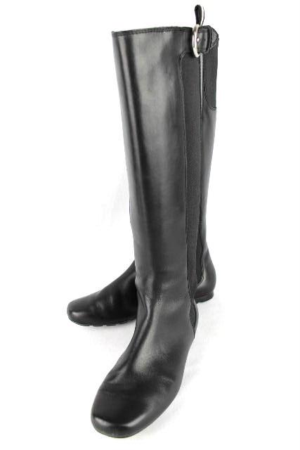 バリー [ BALLY ] レザー サイドゴアブーツ ブラック 黒 SIZE[22.5cm(目安)] レディース サイドゴアブーツ フラット ブーツ