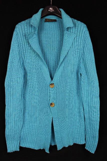 エトロ [ ETRO ] ニットジャケット ブルー SIZE[L] メンズ トップス ロングカーデ セーター ジャケット