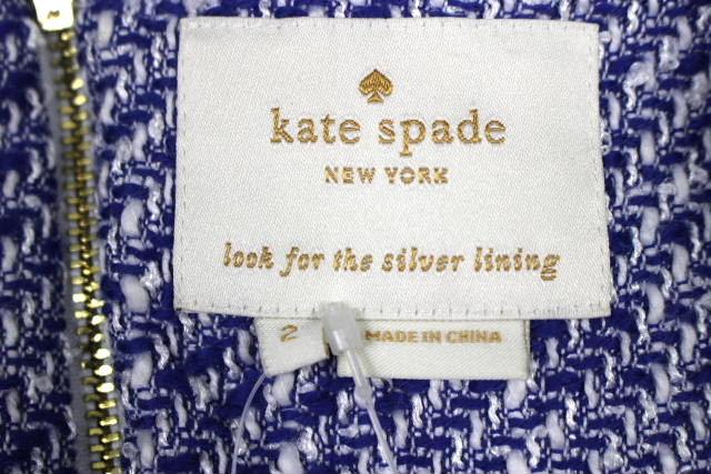 ケイトスペード [ katespade ] ツイード ワンピース ブルー 青 SIZE[2] レディース ワンピ