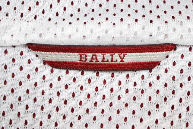 バリー [ BALLY ] ワッペン スエット ジップアップ パーカー レッド 赤 メンズ トップス トレーナー