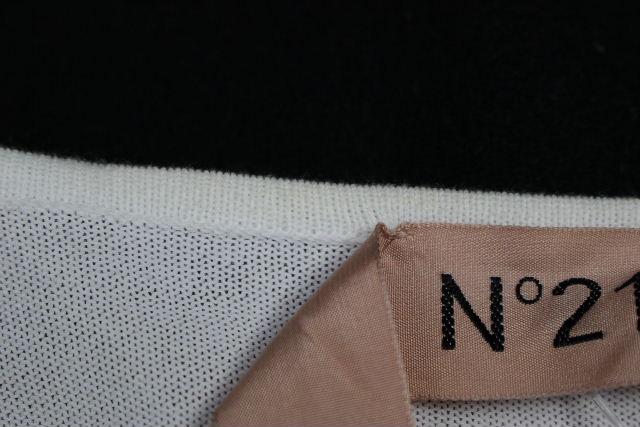 ヌメロ ヴェントゥーノ [ N°21 ] スタースタッズ ニット カーディガン ホワイト 白 SIZE[40] レディース トップス 星 カーデ ボレロ