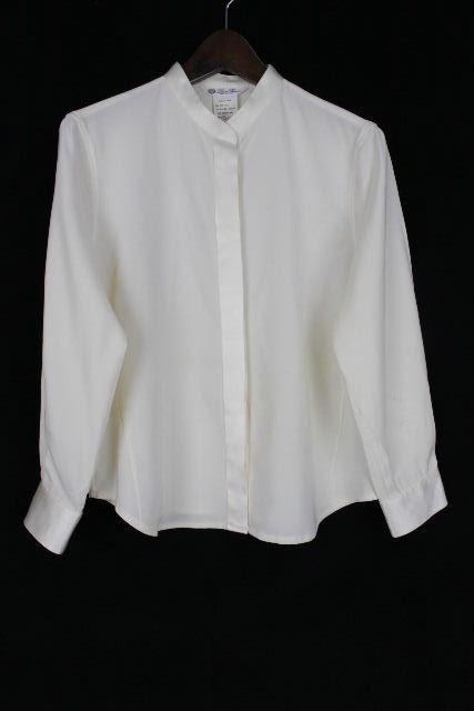 ロロピアーナ [ Loro Piana ] シルク シャツ ブラウス ホワイト 白 長袖 レディース トップス