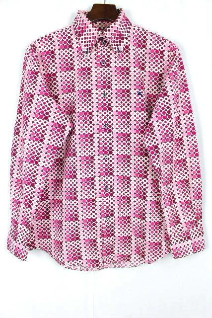 バーバリーブラックレーベル [ Burberry ] ドット柄 ボタンダウン カジュアルシャツ 長袖 SIZE[3] メンズ トップス バーバリー シャツ
