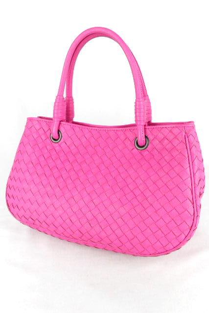 ボッテガヴェネタ [Bottega Veneta] イントレチャート ハンドバッグ ピンク レディース イントレ トートバッグ バッグ
