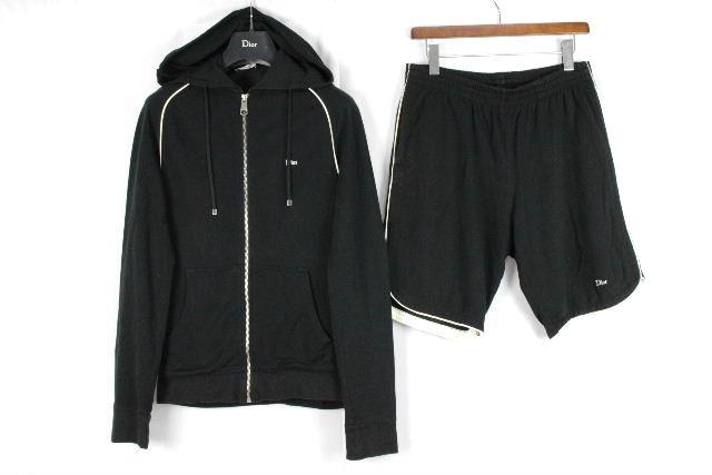 ディオールオム [ Dior ] スエット セットアップ ジャージ ブラック 黒 SIZE[48] メンズ トップス パーカー パンツ ショートパンツ ディオール