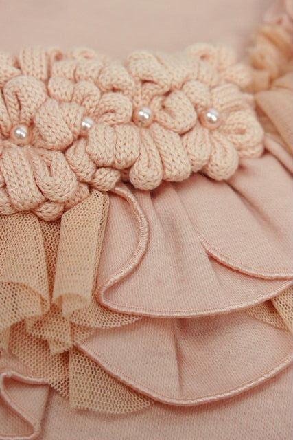 コトゥー [ COTOO ] パール フラワー リボン ニット カットソー ピンク SIZE[38] レディース トップス セーター 長袖 花柄
