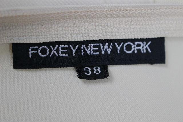 フォクシー NY [ FOXEY ] ノースリ ストレッチ フレアーワンピース ベージュ SIZE[38] レディース ワンピース
